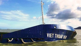 Một tàu hàng bị chìm tại vùng biển Quy Nhơn