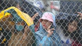 Người hâm mộ Bình Dương đội mưa đón xem thầy trò HLV Park Hang-seo tập