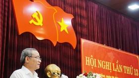 Bí thư Thành ủy Đà Nẵng Trương Quang Nghĩa phát biểu tại hội nghị