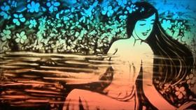 Vẽ yêu thương qua tranh cát động