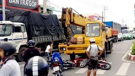 Tai nạn nghiêm trọng tại chốt đèn giao thông, nhiều người thương vong