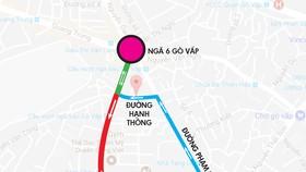 Tình trạng ùn tắc xảy ra thường xuyên tại nút giao thông Nguyễn Kiệm - Nguyễn Thái Sơn