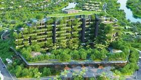 Tòa nhà nghỉ dưỡng được bao phủ bằng 76.000 cây xanh