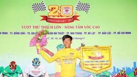 Trần Thanh Điền mặc áo vàng chung cuộc giải năm 2017.