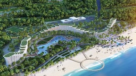 An overview of FLC Luxury Hotel Quy Nhon in Binh Dinh province - one of the projects for which FLC Faros Construction Corporation (ROS) is the main contractor. (Photo: FLC)