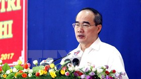 Secretary of the municipal Party Committee Nguyen Thien Nhan (Photo: VNA)
