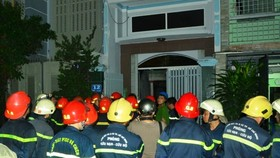 The fire occurred at a three-storey house in Ho Chi Minh City's District 8. (Photo: Sggp)