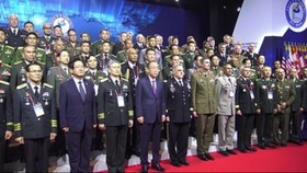 Delegates at the opening ceremony of the 10th Pacific Armies Chiefs Conference (Source: VNA)