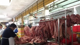 A pork stall at a market in HCM City. (Photo: VNA)