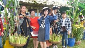 Visitors attend Cam Nam Corn Festival.