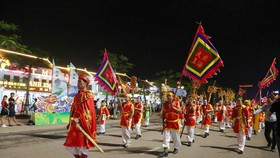 The press conference on the opening ceremony of the National Tourism Year 2018 - Ha Long - Quang Ninh and the Carnival Ha Long 2018 was held on April 24 (Photo: VNA)