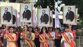 A march in the launching ceremony of the Humanitarian Month  (Photo: sggp)