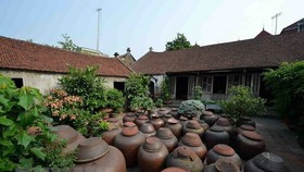 An yard in Duong Lam ancient village (Source: VNA)