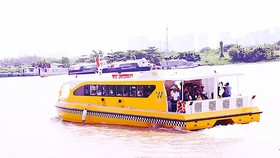River bus in HCMC