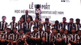 Students of age 11 of the Juventus Academy Vietnam (Photo: VNA)
