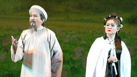 "A scene in the cai luong play ""Rang Ngoc Con Son"" (Shining Pearls on Con Son Mountain)"