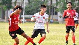 Đội trẻ Long An với lực lượng từ các lứa U21 và U19. Ảnh: Anh Tuấn