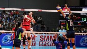 Chủ công Trần Thị Thanh Thuý (3) từng đoạt danh hiệu tấn công xuất sắc ở giải đấu năm 2017.