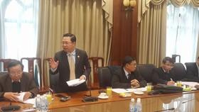 Ông Lưu Bình Nhưỡng phát biểu tại hội thảo