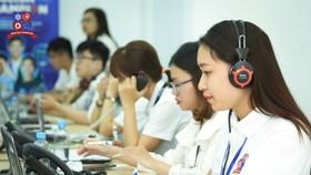 Học sinh dự thi