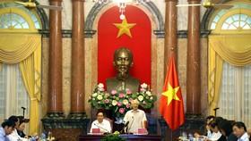 Tổng Bí thư, Chủ tịch nước Nguyễn Phú Trọng gặp Đoàn Chủ tịch Ủy ban Trung ương MTTQ Việt Nam