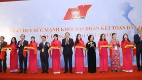 Khai mạc triển lãm trưng bày các hình ảnh của MTTQ Việt Nam trong nhiệm kỳ 2014 - 2019. Ảnh: mattran