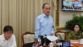 Bí thư Thành ủy TPHCM Nguyễn Thiện Nhân phát biểu tại Hội nghị về công tác cải cách hành chính. Ảnh: VIỆT DŨNG