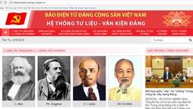 """Ra mắt giao diện mới """"Hệ thống Tư liệu - Văn kiện Đảng"""" trên mạng internet"""