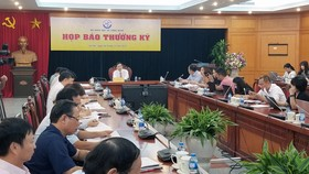 Thứ trưởng Bộ Khoa học và Công nghệ Bùi Thế Duy chủ trì cuộc họp báo. Ảnh: T.B.