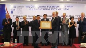 Ceremony in Ho Chi Minh City announces the establishment of Fulbright Vietnam University (Photo: VNA)