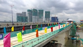 The total investment for Metro Line No 1 in HCM City after three adjustments has increased from VND14.415 trillion ($631 million) to VND47.325 trillion ($2.07 billion). The PM has agreed to advance ODA capital for the project. (Photo: VNA)