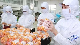 Workers of processed food manufacturer Cau Tre are making food  for local consumption (Photo: SGGP)