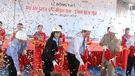 The breaking ground ceremony