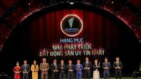 Vingroup, Sun Group, and FLC Group were among the winners of the prestigious real estate developer awards (Photo: VNA)