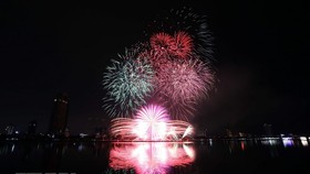 The firework display of Da Nang team of Vietnam (Photo: VNA)