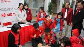 At the cermeony (Photo: Vietnam Red Cross Central Committee)