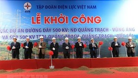 At the ceremony to kick start three 500kV transmission line projects (Photo: VNA)