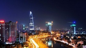 An aerial view of HCMC by night (Photo: mytour.vn)