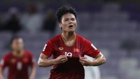 Vietnamese midfielder Nguyen Quang Hai (Photo: VNA)