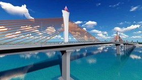 An artist impression of Cua Hoi Bridge (Photo: SGGP)
