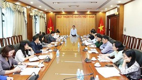 Mr. Hau A Lenh, Vice President and Secretary General of the Vietnam Fatherland Front Central Committee, chaired the meeting on the 2019 Vietnam Innovation Yellow Book.