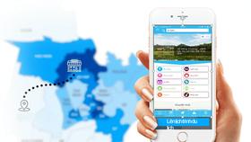 The app Smart Tourism on smartphones