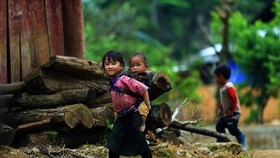 Ethnic minority children in the northwestern province of Dien Bien (Photo: VNA)