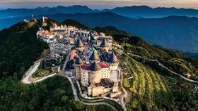 An aerial view of Ba Na Hills in the central coastal city of Da Nang (Source: VNA)