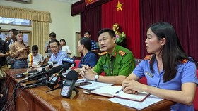 At the press briefing (Photo: SGGP)