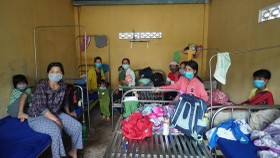 Diptheria patients in isolation area in the local infirmary (Photo: SGGP)