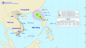 Tropical low pressure system enters East Sea
