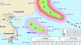 Typhoon Talim and new  tropical low pressure system enter the East Sea