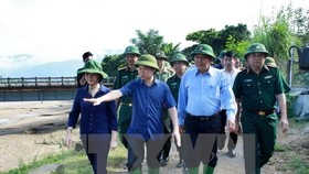 Deputy Prime Minister Truong Hoa Binh inspects flood, landslide-hit areas in Yen Bai (Source: VNA)