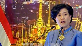 Thai consul general in HCMC Ureerat Ratanaprukse speaks at the celebration (Photo:VNA)